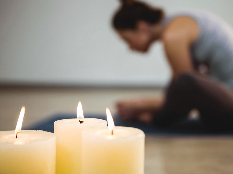 Candle-light yoga